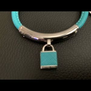 Michael Kors Turquoise/Silver leather bracelet
